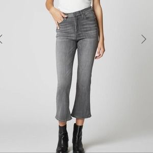 Blank NYC Vandam Gray Cropped Flare High Rise 25